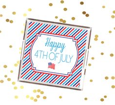4th of July tray, red white and blue serving tray, July 4th decorative tray, patriotic striped serving tray, fourth of July cookout tray by SequinsAndLipstick on Etsy