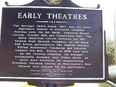 Early theaters of Columbus, Georgia.