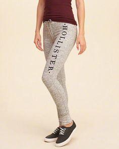 hollister fleece leggings