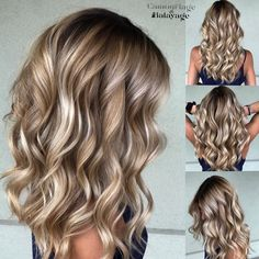 Balayage for a curly blonde hair Red Blonde Hair, Curly Blonde, Blonde Fall Hair Color, Winter Blonde Hair, Hair Color And Cut, Great Hair, Balayage Hair, Bronde Hair, Haircolor