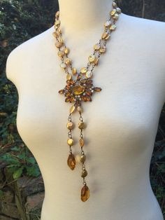 SALE 40% Off GOLDEN CASCADE-Beautiful Golden by DRAMAJEWELRY