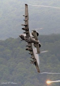 A10 Warthog - I watched 2 of these doing maneuvers while winter climbing in the White Mtns of NH. They did a flyby wave at me while I  was sitting a mtn peak eating my lunch! In love ever since!