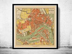 Old Map of Rotterdam, Netherlands 1911 Antique Vintage Map - product images  of