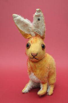 I love the face on this Steiff mohair rabbit.
