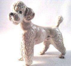 Vintage White Poodle Figurine Japan