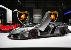 Official Opening  Of The Geneva Motor Show Lamborghini Veneno 3.9 million 0-60 in 3 seconds.  Only 3 will be manufactured!