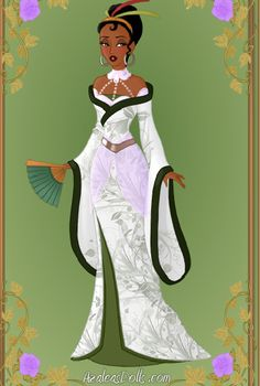 Tiana: Oriental Princess by on DeviantArt Disney Frog Princess, Disney Princess Tiana, Tangled Princess, Princess Merida, My Princess, Disney Princesses, Cute Disney, Disney Style, Disney Art
