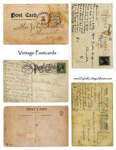 All about dollhouses and miniatures: Printables om kaarten en brieven voor het poppenhuis te maken printable postcards freebies