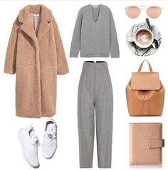 A fashion look from September 2017 by fashionlandscape featuring Acne Studios, Jacquemus, Mansur Gavriel, Kenneth Cole Reaction and Ray-Ban Winter Mode Outfits, Winter Outfits Women, Winter Fashion Outfits, Look Fashion, Autumn Winter Fashion, Fall Outfits, Feminine Fashion, Womens Fashion, Minimale Kleidung