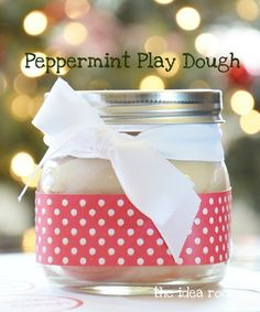 Peppermint Play Dough Recipe - so interactive - just by adding peppermint essense to playdough recipe Homemade Christmas Gifts, Homemade Gifts, Diy Gifts, Craft Gifts, All Things Christmas, Christmas Holidays, Christmas Ideas, Christmas Activities, Xmas