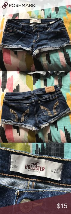 Hollister Shorts One inch inseam; distressed cuff Hollister Shorts