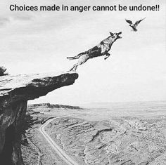 Choices made in anger cannot be undone.