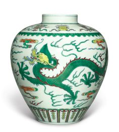 A DOUCAI 'DRAGON' JAR, QIANLONG SEAL MARK AND PERIOD