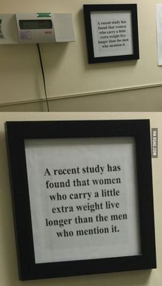 Saw this next to the weighing scale at the hospital.