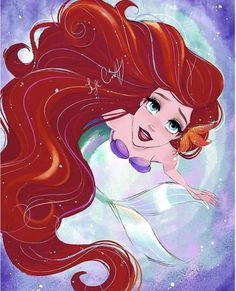 Disney Princess Ariel, Disney Nerd, Princess Art, Disney Fan Art, Goth Disney, Disney Disney, Disney Movies, Disney Characters, Disney Princess Drawings