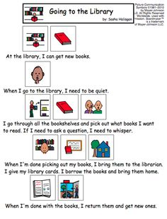 Visual Social Story for Library Behavior for Children with Autism