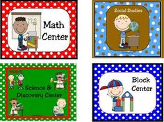 The adorable graphics on these learning center signs and labels are very kid friendly and help little ones find their assigned learning centers! Th...