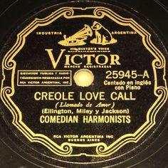 COMEDIAN HARMONISTS  Creole Love Call  1931/33 VICTOR rare Arg. Pressing #78rpm #Schellackplatte