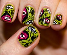 I wish I was this creative. This makes me almost want to pay for a manicure...almost.