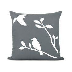 Love birds pillow cover White birds in nature by ClassicByNature