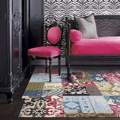 Love carpet tiles, so fun and versatile. Only $14.99 a tile, or $5.57 per square foot! From FLOR.com