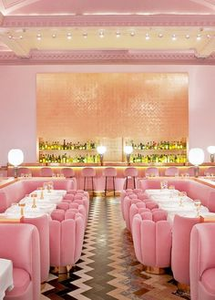 the fabulously pink sketch gallery restaurant in london   via coco kelley