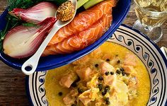 Venäläinen lohikeitto kapriksen kera Cantaloupe, Chicken, Fruit, Ethnic Recipes, Food, Essen, Meals, Yemek, Eten