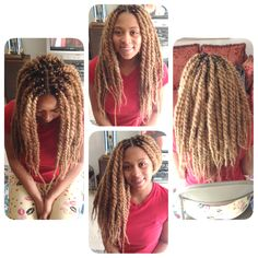 Blonde marley twists on my client