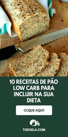 Baixe 10 receitas low carb saborosas clique no pin Healthy Diet Recipes, Healthy Fruits, Low Carb Recipes, Low Fat Diets, No Carb Diets, Low Carb Bread, Low Carb Keto, Tortas Low Carb, Baking Flour