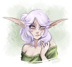A portrait of @syliune who is a very pretty elf  by drew-winchester