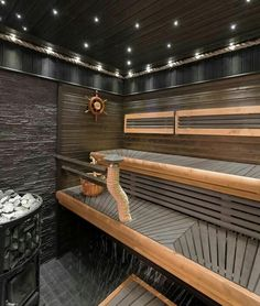 Of all the facilities you can use in a spa, the most popular one has to be a sauna. Sauna Steam Room, Sauna Room, Sauna Lights, Modern Saunas, Piscina Spa, Sauna Seca, Indoor Sauna, Sauna House, Dry Sauna