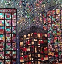 Canary Wharf Lights Mixed Media Painting on Canvas by Nicola Berry Mixed Media Painting, Mixed Media Canvas, Art Paintings, Berry, Lights, Quilts, Ideas, Quilt Sets, Bury