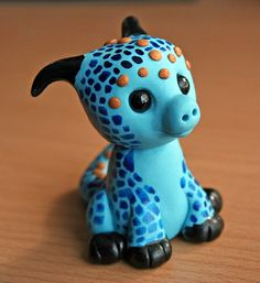 Custom request | Flickr - Photo Sharing! Polymer Clay Dragon, Cute Polymer Clay, Cute Clay, Fimo Clay, Polymer Clay Charms, Polymer Clay Sculptures, Polymer Clay Creations, Sculpture Clay, Monster Crafts