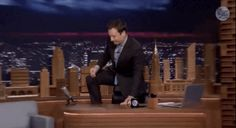 "Fallon ended the segment standing on his desk, commemorating the famous scene from Dead Poet's Society, claiming ""Oh Captain, My Captain. You will be missed."" 