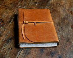 Leather Journal Leather Notebook Kisses Journal