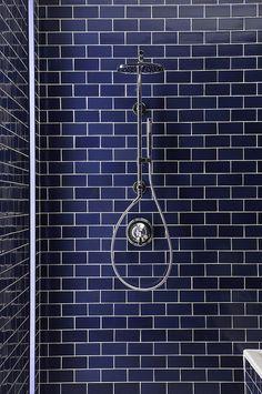 Navy Blue Subway Tiles <3   Tiles available @TILEjunket #geelongwest #tiles #interiordesign