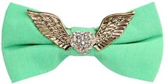 Men's Gold Wings heart-shaped Manual Personalized Best Bow Tie