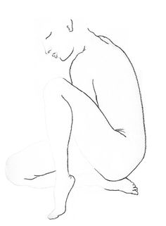 pencil charcoal drawing nude A Time of Rest by NightSightArt, $40.00