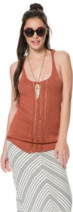 love the detail on this sweater tank.