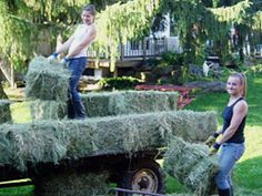 Bailing Hay...reminds me of helping Grandpa!