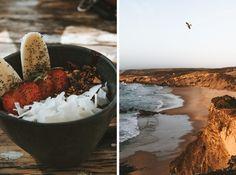 Die schönsten Strände in Portugal - meine Favoriten! - coloronagreyday Coconut Flakes, Strand, Acai Bowl, Spices, Breakfast, Food, Travelling, Double Bunk, Tips