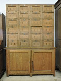 Meuble de m tier ann e 50 78 tiroirs d co ancienne for Frais de notaire meuble