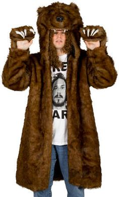 Workaholics Bear Coat Keeps You Cozy at Work #mensfashion