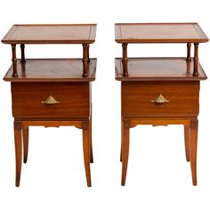Pair of James Mont Style Side Tables | From a unique collection of antique and modern side tables at https://www.1stdibs.com/furniture/tables/side-tables/