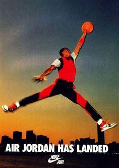 Michael Jordan Has Landed By Nike Air