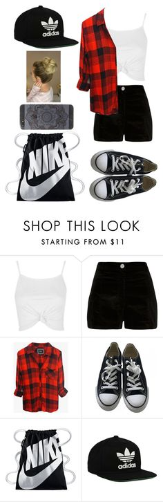 """""""""""Don't cry because it's over, smile because it happened.""""  ― Dr. Seuss"""" by mm2004 ❤ liked on Polyvore featuring Topshop, River Island, Rails, Converse, NIKE and adidas Originals"""