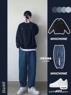 Korean Fashion Men, Korean Men, Mens Fashion, Stylish Mens Outfits, Casual Outfits, Boy Outfits, Fashion Outfits, Estilo Indie, Mens Clothing Styles