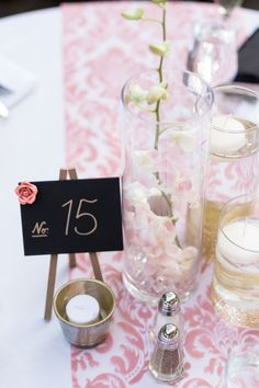 Reception Table Decor Silver Gold Coral | Glen-Ellen-Jack-London-State-Park-Wedding-Photographer-TréCreative