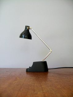 Mid Century Industrial Task Lamp  Small / Black / Chrome by luola, $23.00