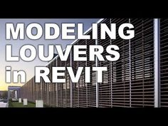 Louvers in Revit Sun protection shade facade tutorial Revit Architecture, Architecture Drawings, Building Information Modeling, Primary School, Sun Protection, Autocad, Tutorial, Facade, Architecture